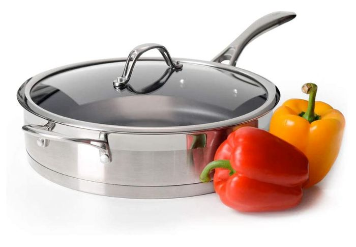 Go Cook Stainless Steel Saute Pan 28cm *20-Year Quality Guarantee & HALF PRICE!