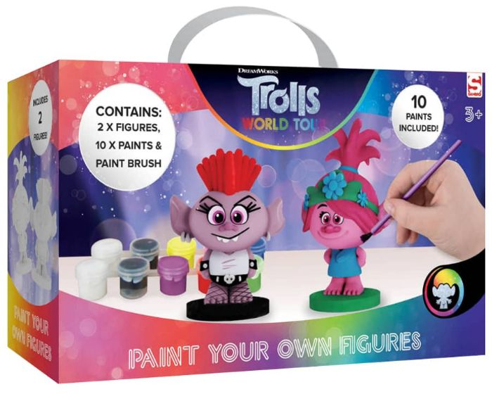 Trolls 2 Paint Your Own Figures - Only £10 Delivered with Code!