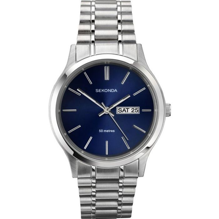 Sekonda Men's Stainless Steel Adjustable Bracelet Watch