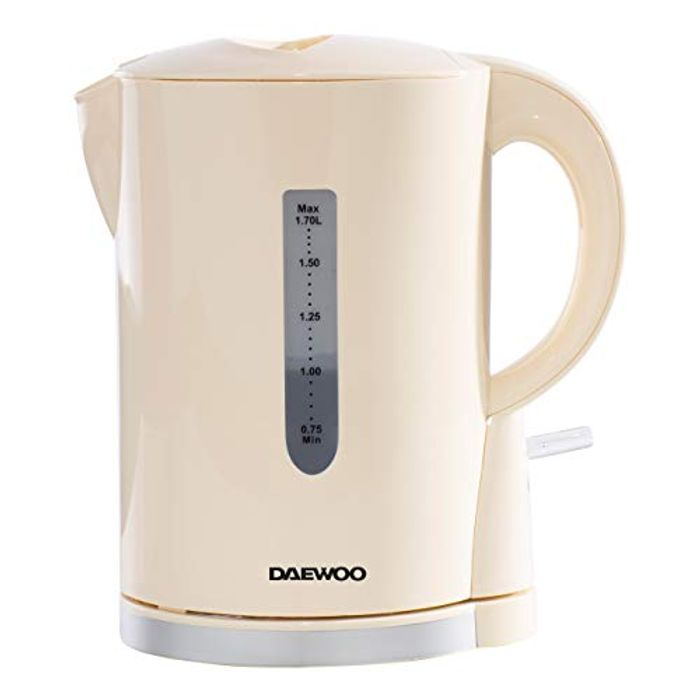 Daewoo SDA1683GE Chrome' 1.7L Cordless Electric Lightweight Kettle
