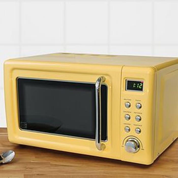 *SAVE 20%* Retro 20L 800W Yellow Digital Microwave