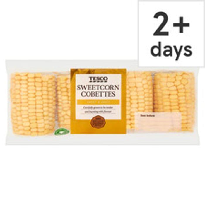 Tesco Sweetcorn Cobettes 4 Pack