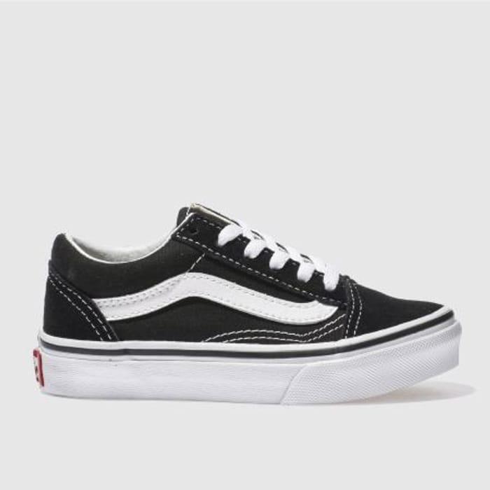Vans Black & White Old Skool Trainers Junior