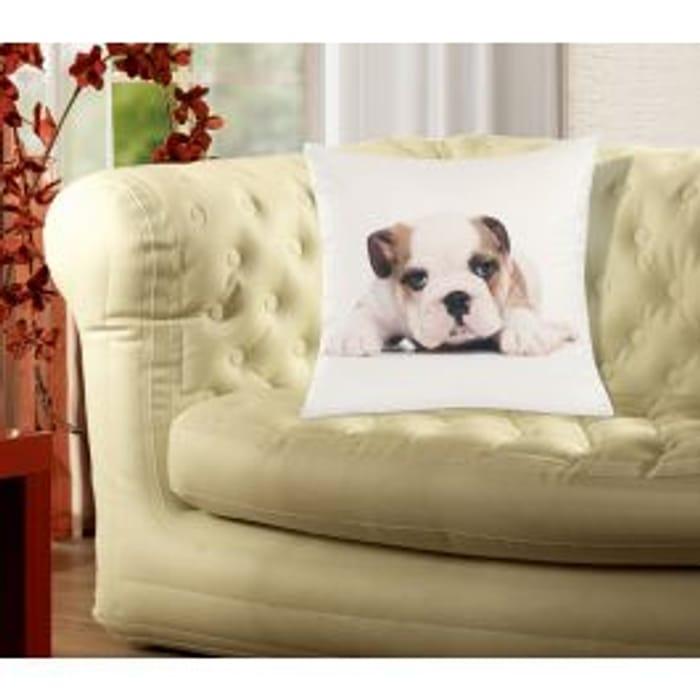 Soft Bulldog Cushion Cover
