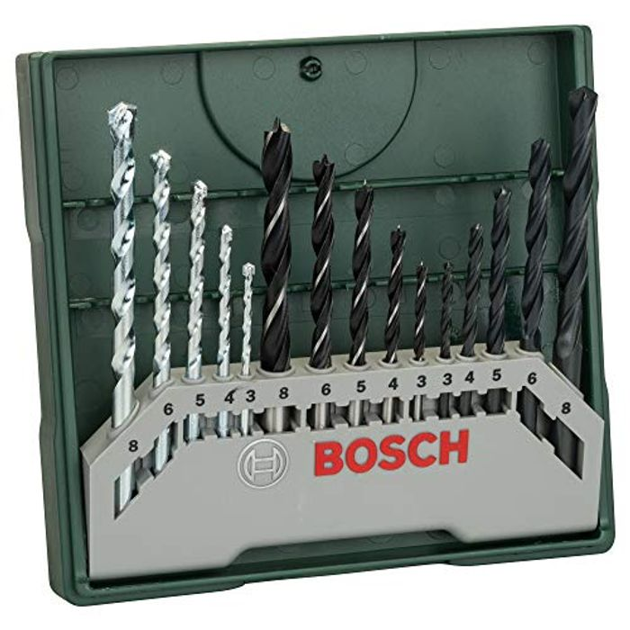 Bosch 15 Pieces Masonry Wood Brick Metal Drill Bit Set, £6.62 at Amazon
