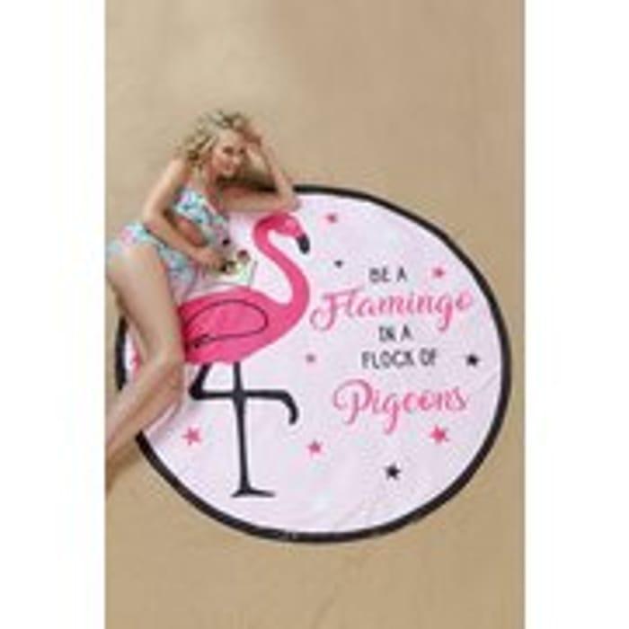 Round Flamingo Towel/blanket