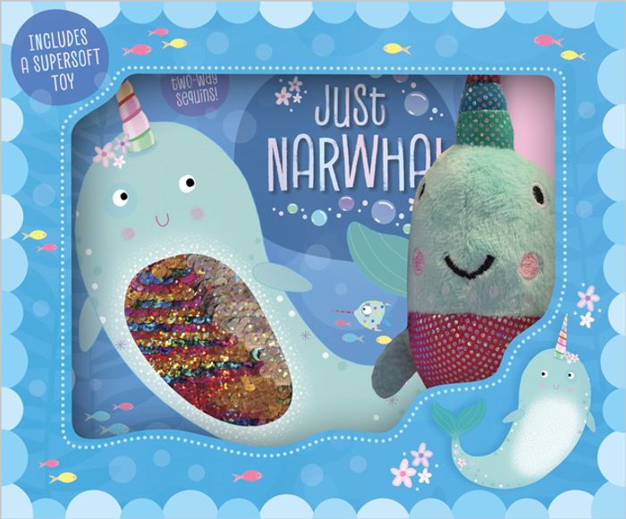 Just Narwhal Book and Plush