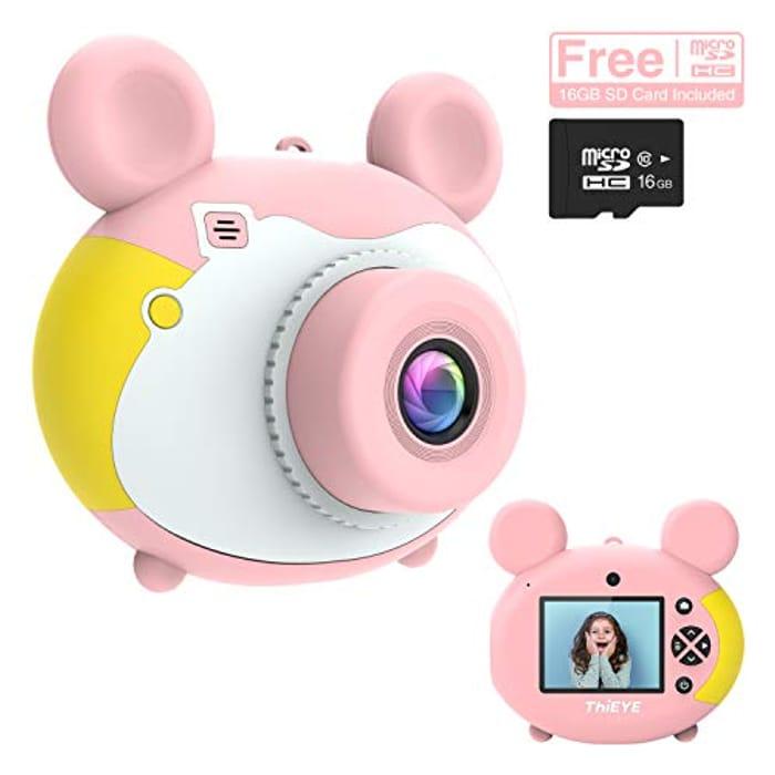 Save 70% - Kids Digital Camera with 16GB SD Card