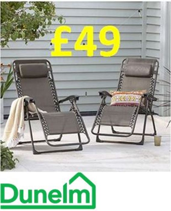 Cheap 2 Zero Gravity Sun Loungers Only £49!
