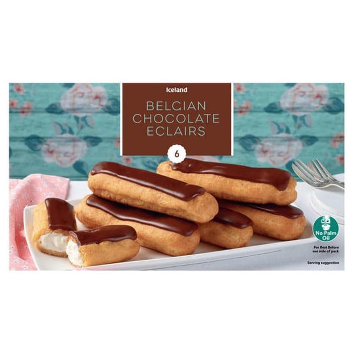 Iceland 6 Belgian Chocolate Eclairs 160g