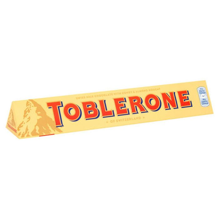 Cheap Toblerone Milk Chocolate Bar 100g Only £1