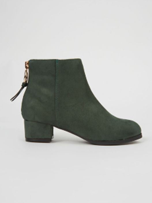 Forest Green Heeled Sock Boots