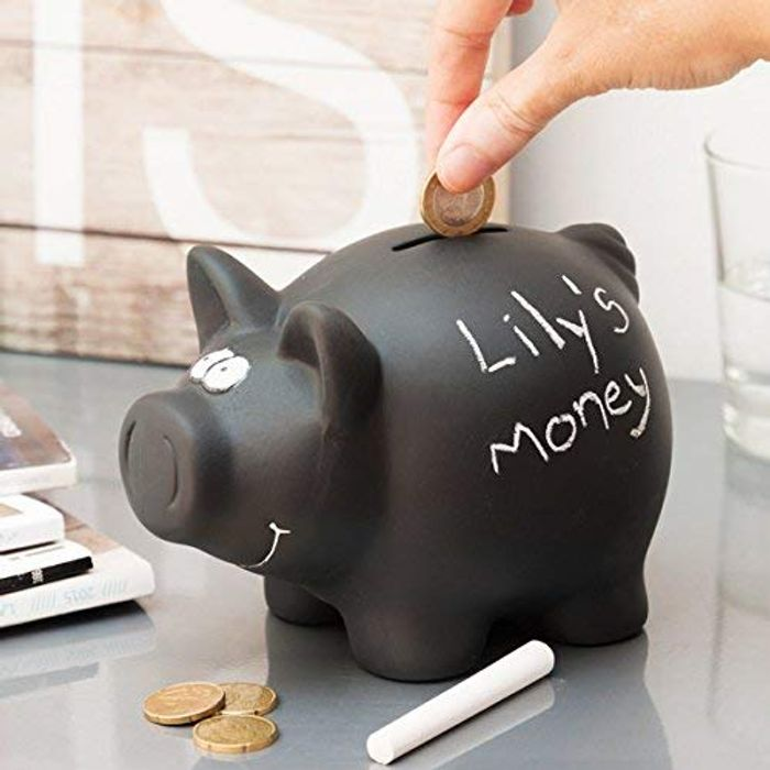 Chalkboard Pig Money Box