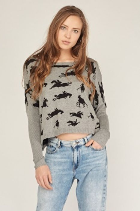 Horse Pattern Knitted Jumper