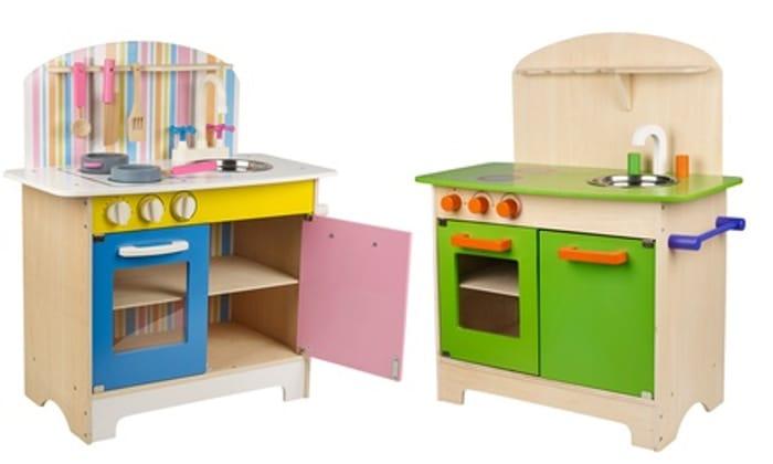25-Piece Kids' Wooden Kitchen Play Set