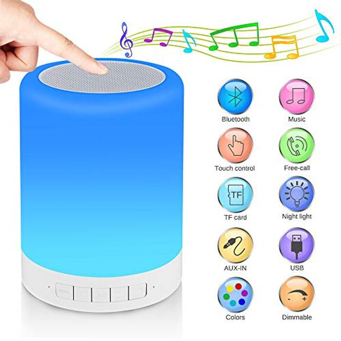 Portable Blootooth Night Light Speaker with Promo Tab