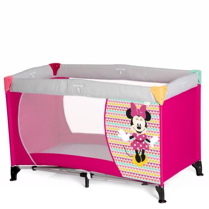 Hauck Deluxe Dream N Play Travel Cot / Playpen - Minnie Geo Pink
