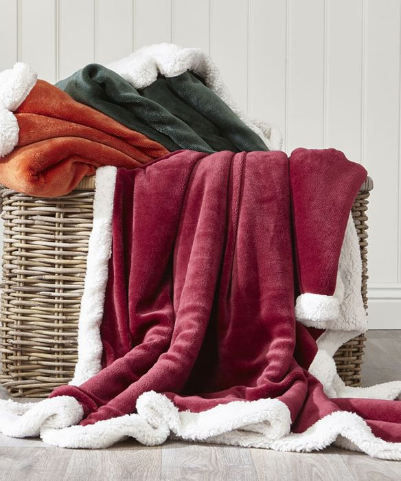 Special Offer - Plain Sherpa Throw