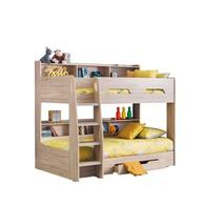 Riley Bunk Bed with Shelves and Storage