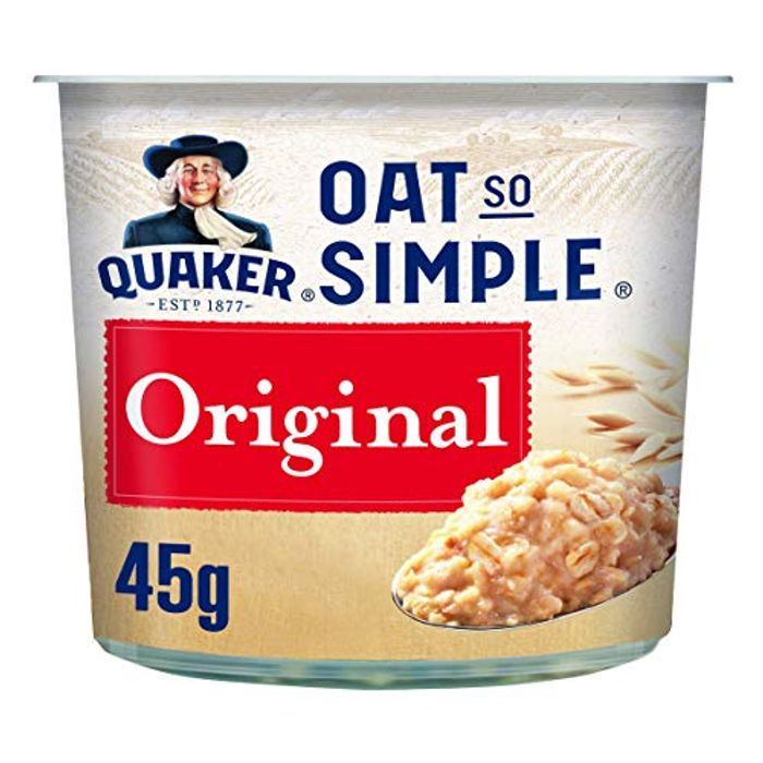 Quaker Oat so Simple Original Porridge Pots, 45 G (Pack of 8)