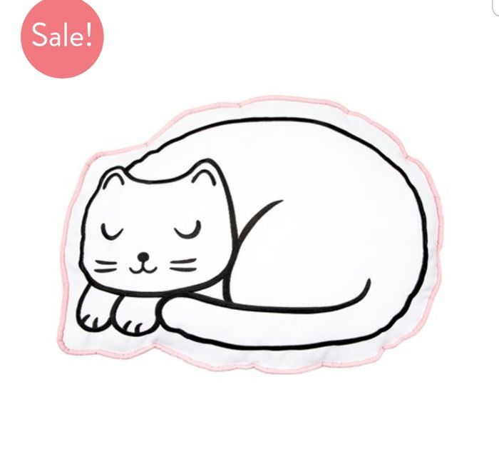Cutie Cat Nap Time Decorative Cushion on Sale From £20 to £5