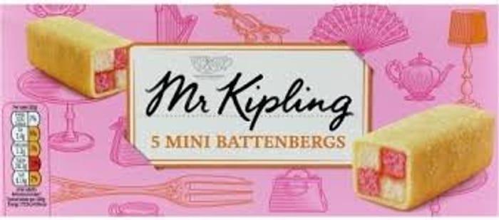 Mr Kipling Mini Battenbergs 5pk
