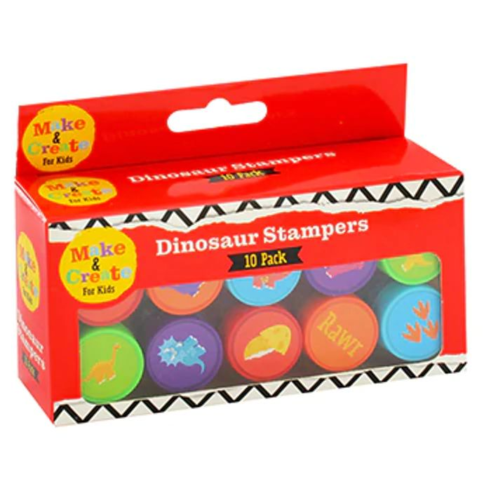 10 Pack of Dinosaur Stamps