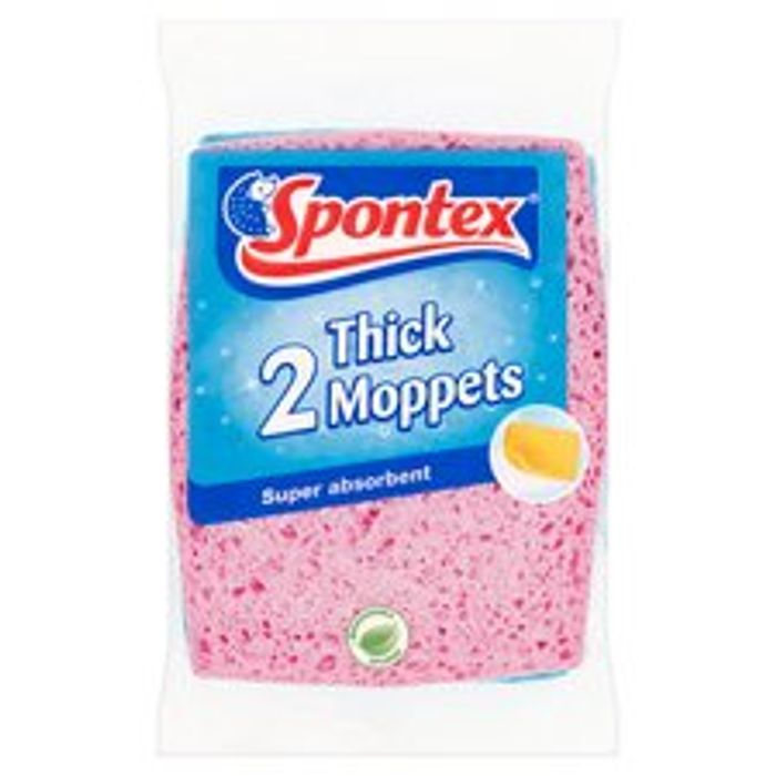 Spontex Thick Moppets 2 Pack