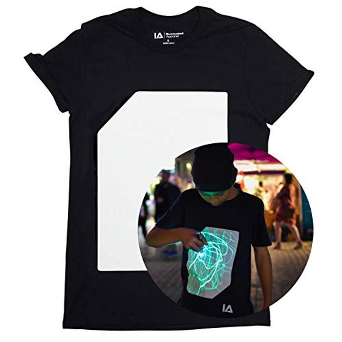 GIFT IDEA- Illuminated Apparel Interactive Glow in the Dark T-Shirt
