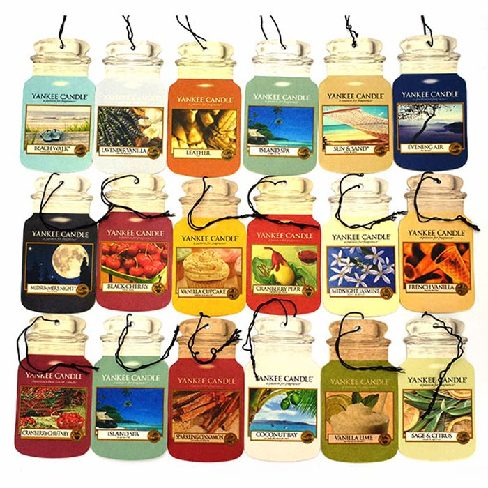 Cheap 9 X Yankee Candle Assorted Car Jar Cardboard Air Fresheners Only £8!