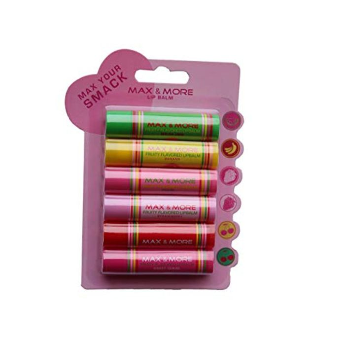 Best Price! Max & More Fruity Flavored Lip Balm Pack of 6