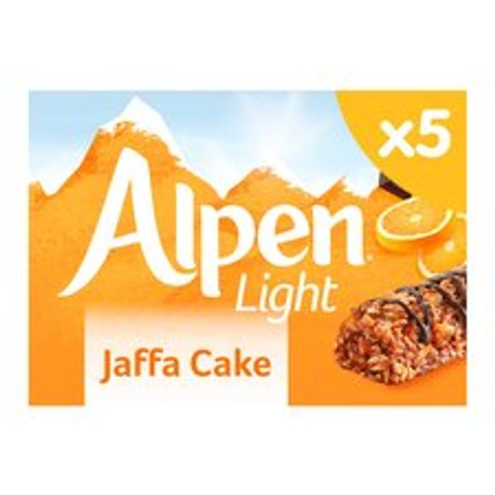 Alpen Light Jaffa Cake 5 Pack 95G on Sale From £1.99 to £0.99