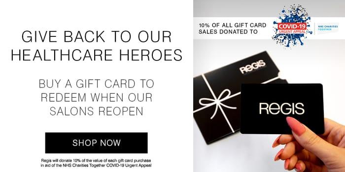 12% off Orders over £45 at Regis Salon
