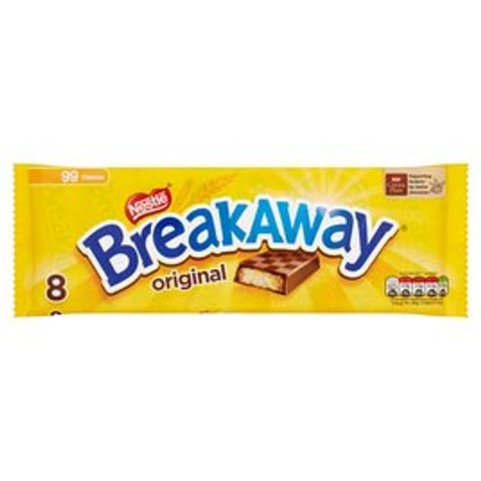 CHEAP! Breakaway Milk Chocolate Biscuit Bars 8 Pack8 X 19g