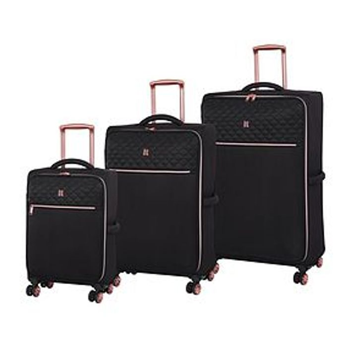 Gorgeous IT Black and Rose Gold Suitcases