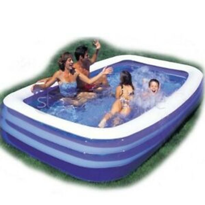 Large Family Swimming Pool Garden Outdoor Summer Inflatable Kid Paddling+Pump