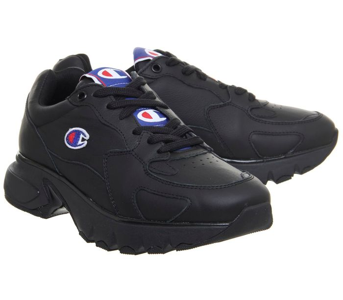 Champion CWA Leather Trainers Black Black F