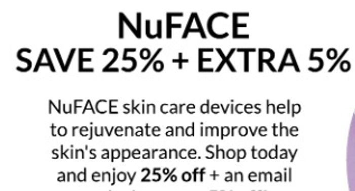 25% off NuFace