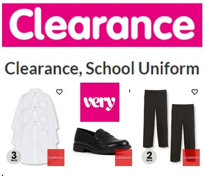 CLEARANCE SCHOOL UNIFORM at VERY