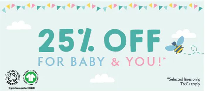 25% off FRUGI Mother & Baby