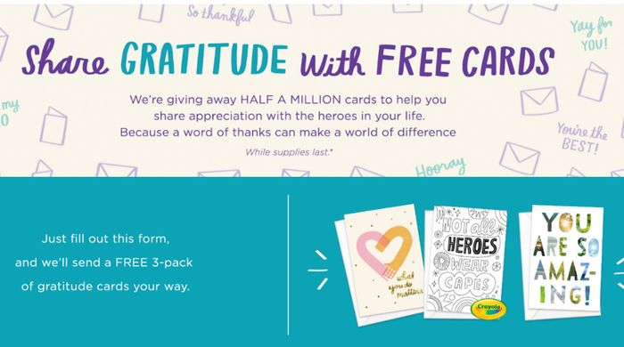 Hallmark - 500,000 FREE Thank You Cards! *Website Slow Because Of Demand