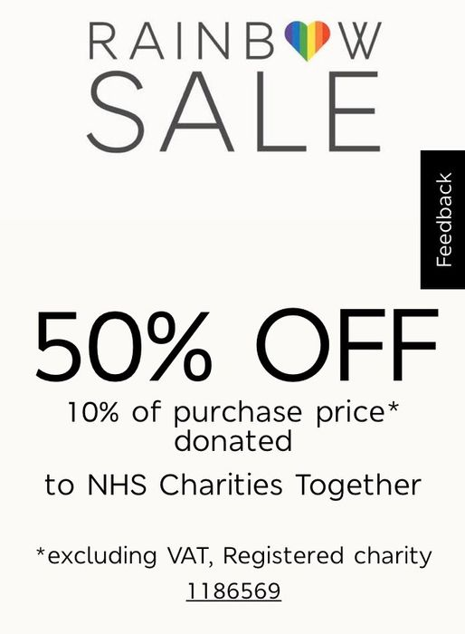 M&S 50% off Rainbow Sale is Now On
