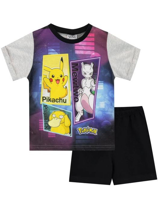 Cheap Pokemon Short Pyjamas - Pikachu, Mewtwo and Psyduck Only £4.95