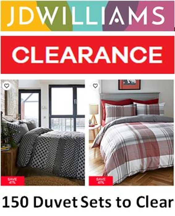 150 Duvet Sets to Clear! DUVET CLEARANCE DEALS from £5!