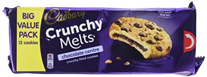 Cadbury Crunchy Melts Chocolate Centre Biscuits 312g