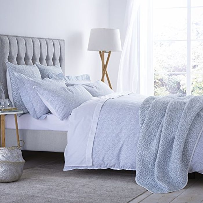 Bianca Delicated Duvet Cover Bed 105, 100% Cotton, Duckegg, 180 X 220