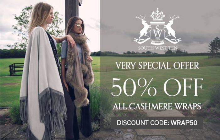 Special Offer - 50% off Our Cashmere Wraps
