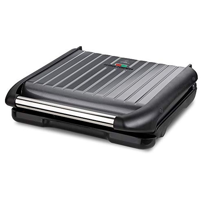 George Foreman Large Grey Steel Grill 25051 Only £35
