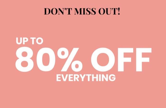 Up to 80% off Sale at Pink Clove