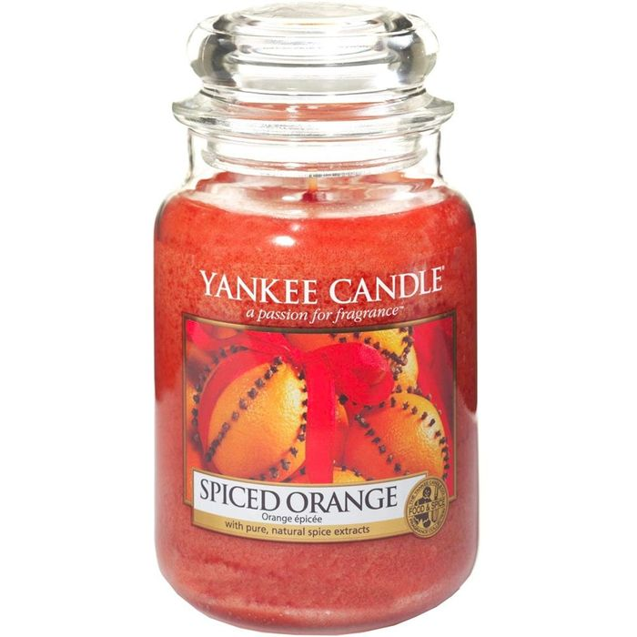 Yankee Candle Spiced Orange Large Jar Candle - Free Delivery